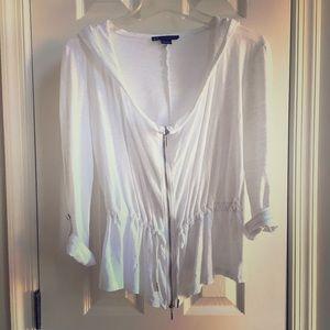 A/X Armani Exchange Tops - Cute Armani Exchange peplum zip up hoodie