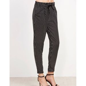 Brandy Melville Pants - Brand New Vertical Pinstriped Drawstring Pants