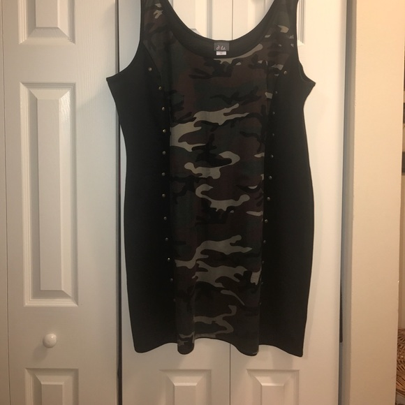 Black army fatigue dress plus size 3x