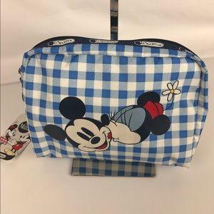 LeSportsac Handbags - Disney LeSportsac Mickey Minnie Cosmetic Bag