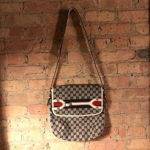 AUTHENTIC Gucci Hertiage Canvas Web Stripe Bag