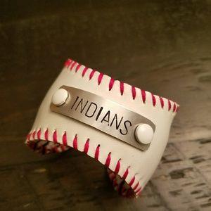 Cleveland Indians Baseball Cuff Bracelet