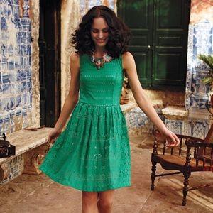 Anthropologie Postmark Sunstream Eyelet Dress