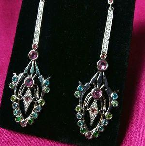 Stunning gemstone drop earrings!