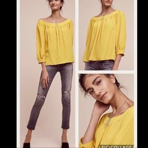 NWT Anthropologie Yanna Off-The-Shoulder Top