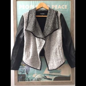 CoffeeShop Jackets & Blazers - Sweater Jacket Coffee Shop • Faux Leather