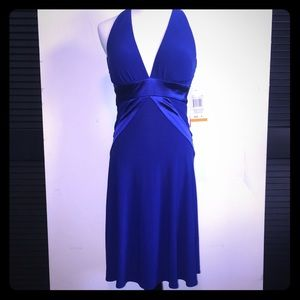 Morgan & Co. Dresses & Skirts - NWT Morgan & Co Ink Blue Halter Cocktail Dress