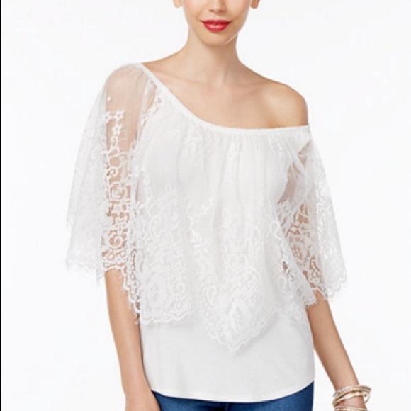 1447153517c93 Thalia Sodi Convertible Lace-Overlay Top