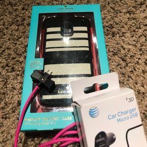 kate spade Accessories - Kate Spade Battery Backup Galaxy 5 Bundle