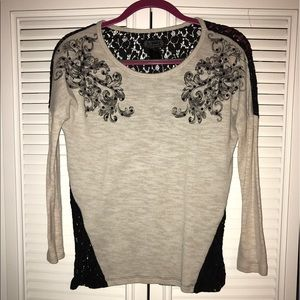 Shyanne Tops - Shyanne long sleeve top with lace open back