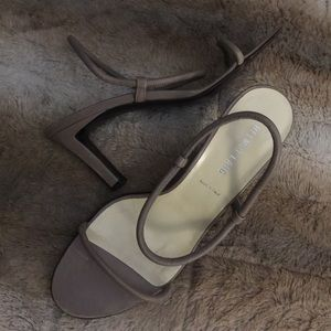 Helmut Lang Shoes - HELMUT LANG Nude Taupe Rolled Tube Heels Sandals