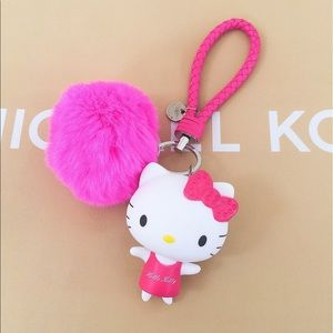 Accessories - Hello kitty cute large Pom Pom keychain