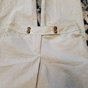 Ann Taylor Petite Womens Casual Gray 00P Pants