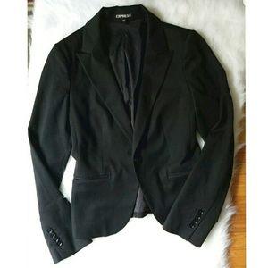 Express Women Black Career Blazer Jacket Size 4