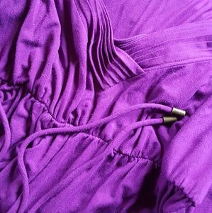 Rich Purple Maternity Dress