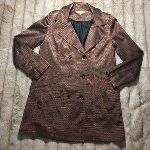 Ellen Tracy Jackets & Blazers - Ellen Tracy Gold x Bronze x Copper Peacoat Jacket