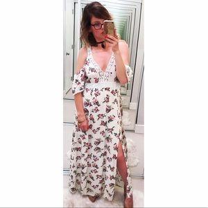 Flying Tomato Dresses & Skirts - ➡Flying Tomato Cold Shoulder Floral Maxi Dress⬅