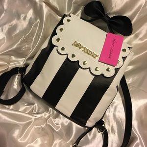 Betsey Johnson Handbags - 💋NWT Betsey Johnson Bow Stripe Backpack