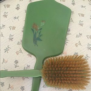 Vintage 1930s Lucite Green Vanity Set/Floral 💚