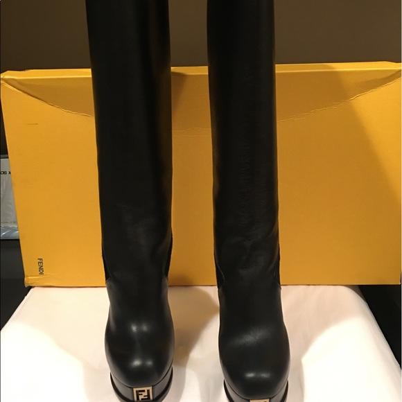 41e9aceb FENDI Platform Stiletto Knee High Boots Size 7.5 Boutique
