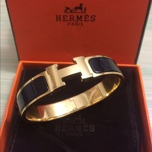 Hermes Jewelry - Authentic Hermes Clic Clac Gold Palladium Bracelet