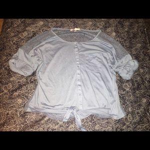 Vioblu Tops - 🌷Vioblu tie front + lace blouse
