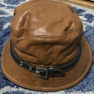 Coach Accessories - Coach leather bucket hat brown