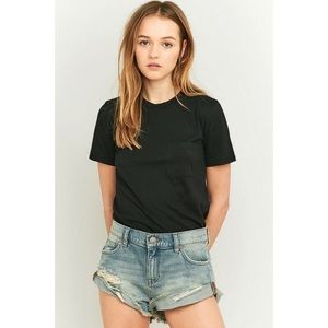 Boyfriend fit jean shorts