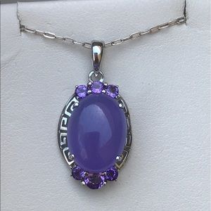 Vintage Jewelry - Raw Amethyst Necklace