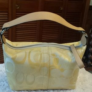 Coach  Handbags - Coach Optic C Demi Yellow Pouch
