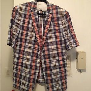 Thom Browne Other - Thom Brown Men's Plaid Short Sleeved Jacket