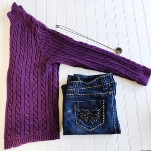 L.L. Bean Sweaters - L.L. Bean zip up purple long sleeve sweater