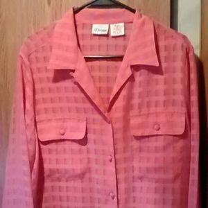 Tops - Peach blouse sz 14