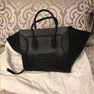 Celine Medium Luggage Phantom Handbag Black