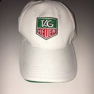 Tag Heuer Other - Tag Heuer White Logo Adjustable Golf Hat