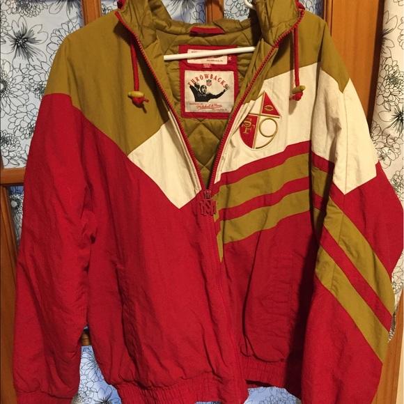 separation shoes d652b 0c08e Men's retro 49ers jacket