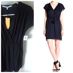 Collective Concept Shirred Wrap Dress Side pockets