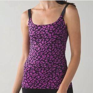 lululemon athletica Tops - Lululemon Black and Purple Cheetah Printed Tank