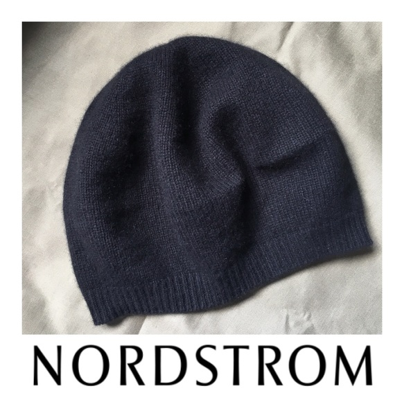 cc5f6d70bdd13 EUC Cashmere Slouchy Beret in Black. M 5974d6c6522b455de902c06a. Other  Accessories you may like. Nordstrom Cloche Hat ...