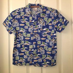 Disney Other - Boys DISNEY Blue Hawaiian MICKEY Surf Cruise Shirt