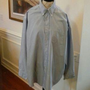 "Men's London Fog ""Big Man"" Shirt Blue SZ 18"