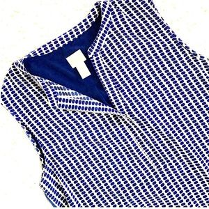 Chico's Tops - 🎉HPx2🎉Chico's Sleevles Blue & White Shirt