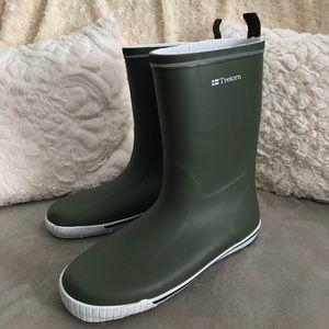 Tretorn Shoes - Tretorn Rubber Boots Olive Size 10