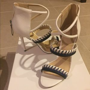 GX by Gwen Stefani Shoes - NWOT blue and white heels