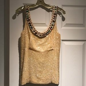 Chloe Tops - Vintage Chloe (authentic) sequin and beaded tank