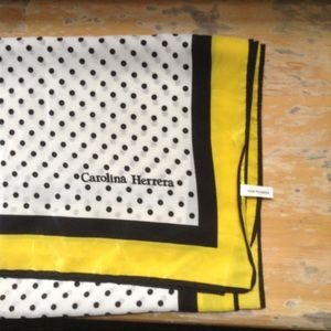 Carolina Herrera Accessories - NEW LISTING polka dots CAROLINA HERRERA scarf