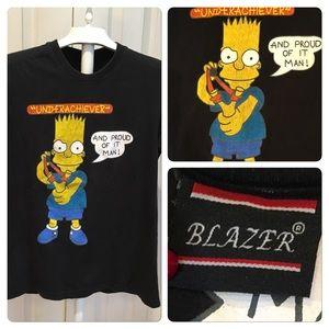 Vtg Bart Simpson Underachiever Tee