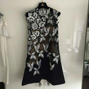 Self Portrait Dresses & Skirts - Self Portrait Lilac Patchwork Guipure-Lace Dress