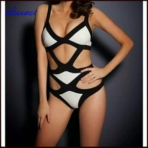 Other - black white Bandage Swimsuit monokini