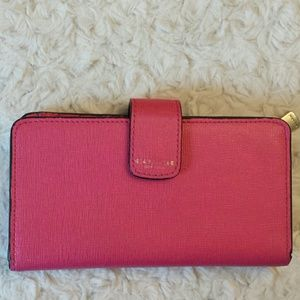 Coach  Handbags - Coach Pink Leather Wallet